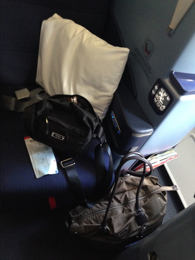 Plenty of room for my luggage while I get situated for the enjoyable (yes enjoyable )flight on airberlin