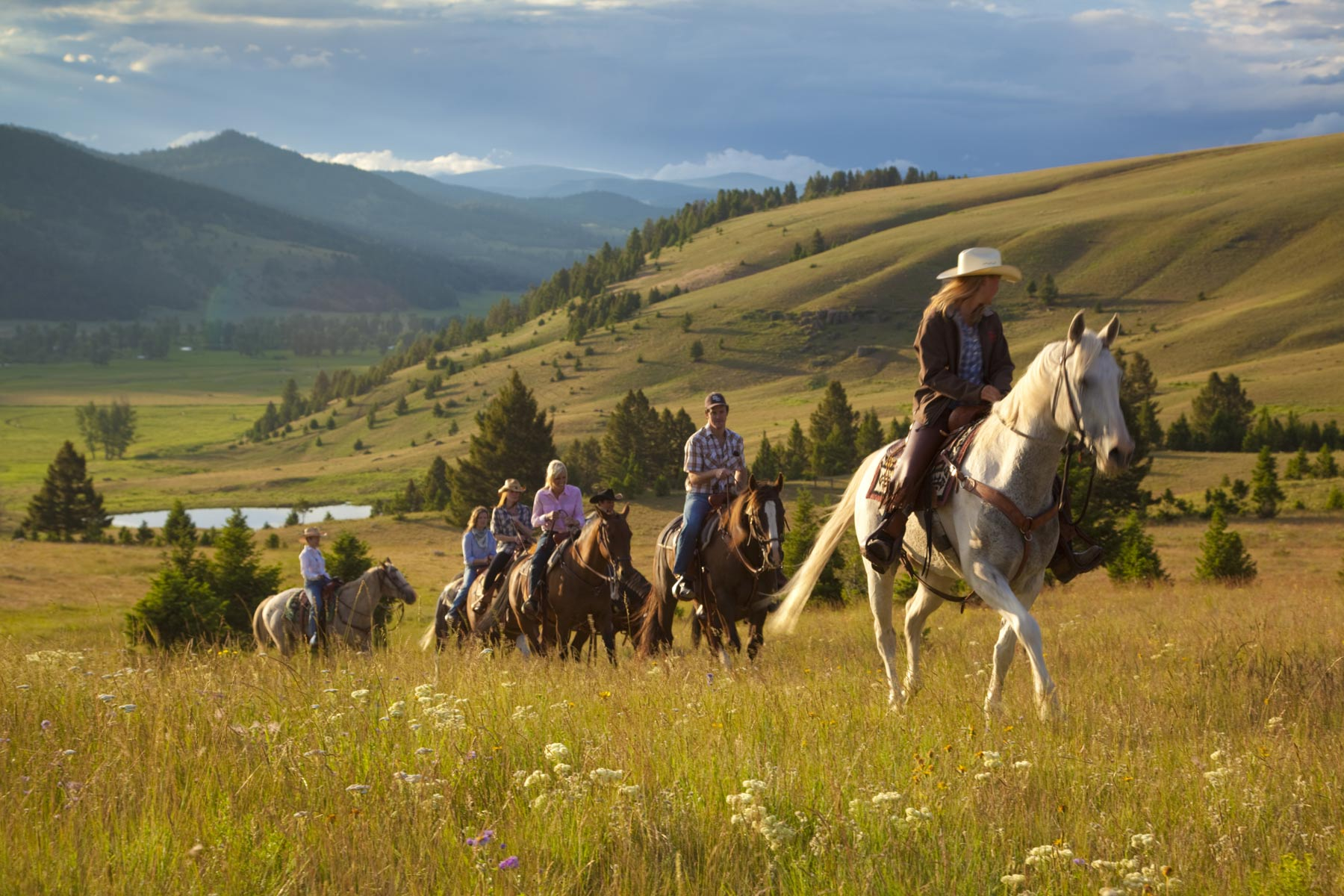 Glamping at the ranch at rock creek for Where to go horseback riding near me