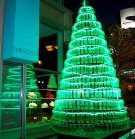 A 17 foot environmentally-friendly holiday tree!  Photo Credit: The Ritz-Carlton, Charlotte