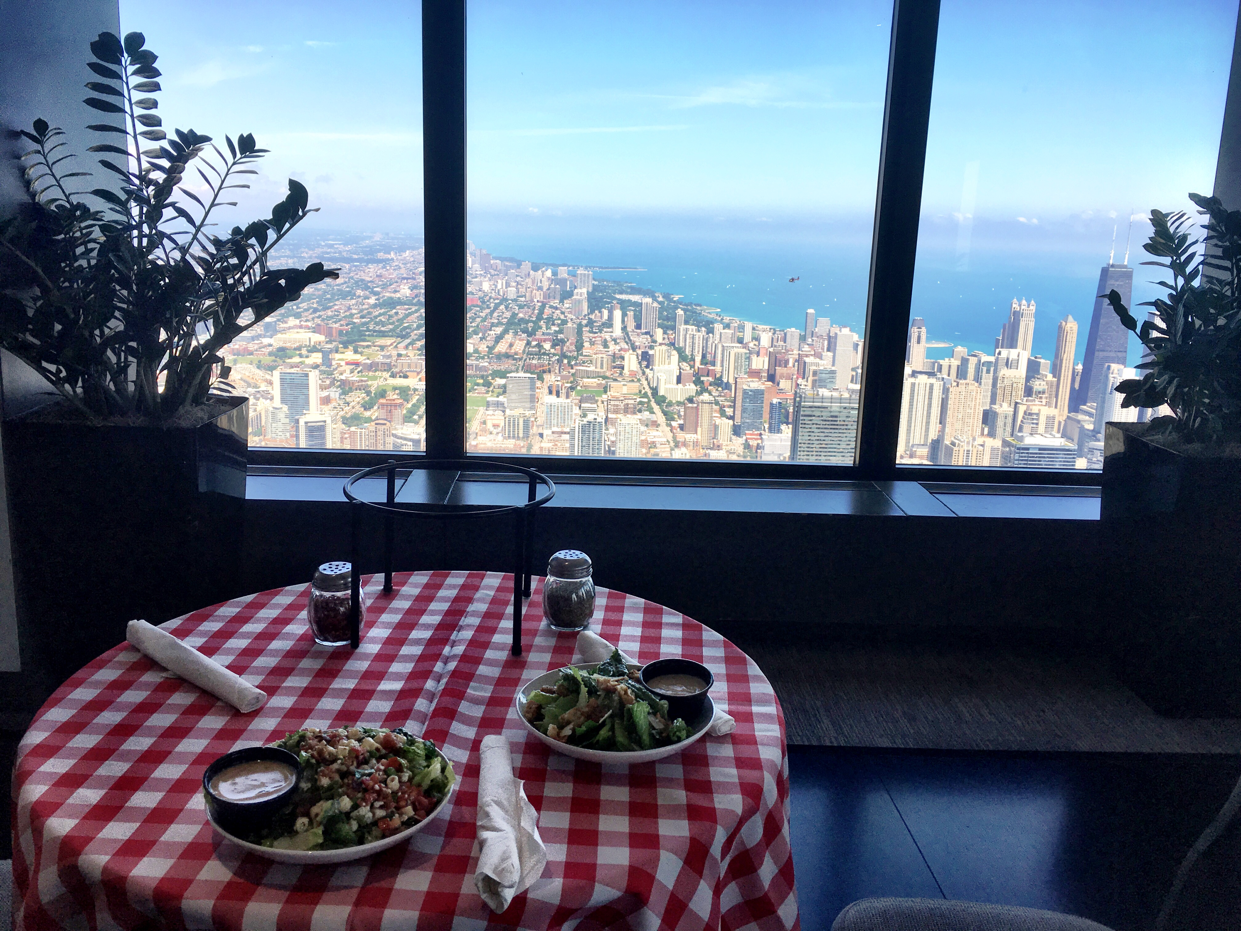 Pizza with the best view in Chicago. Photo by AImee Heckel